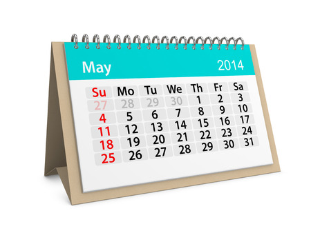datebook: Monthly calendar for New Year 2014. May.