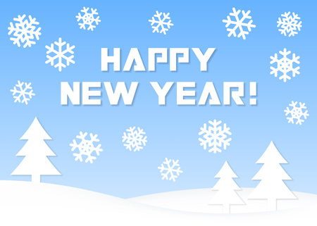 Happy New Year. Vector greeting card. Vector