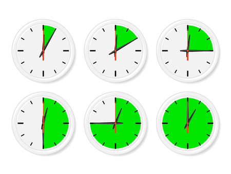 clip arts: Time icons. Vector illustration. Illustration