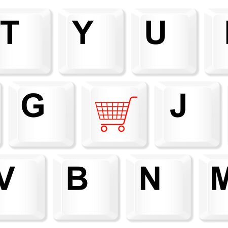 Shopping keyboard button. Vector illustration. Vector