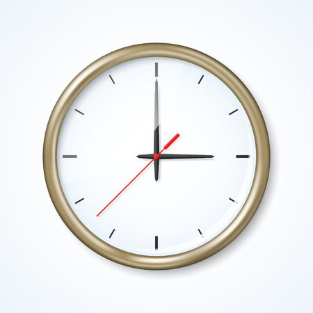 orologio da parete: Orologio da parete sullo sfondo neutro