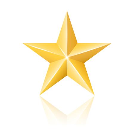 Gold star illustration Vector
