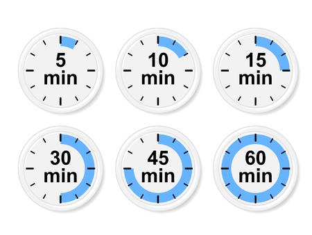 time lapse: Time icons illustration. Illustration