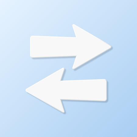 flèche double: Vers la droite vers la gauche la flèche sur flèche