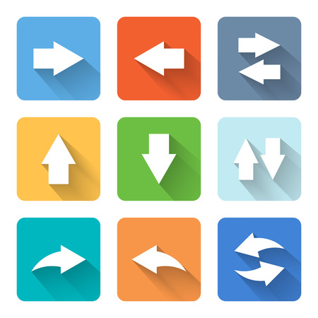 flèche double: Appartement icônes fléchées.