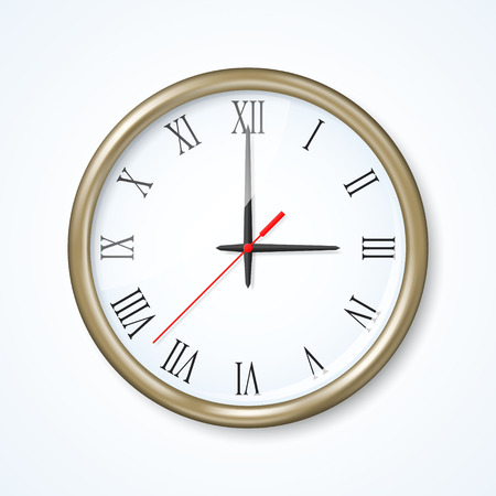 second meal: Wall clock on the neutral background