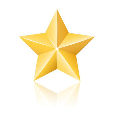 Gouden ster illustratie Stock Illustratie