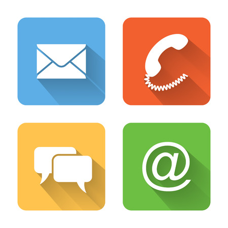email icon: Flat contacts icons.