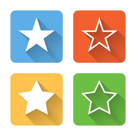 Flat star icons.