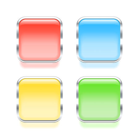 web buttons: Set of colorful web buttons