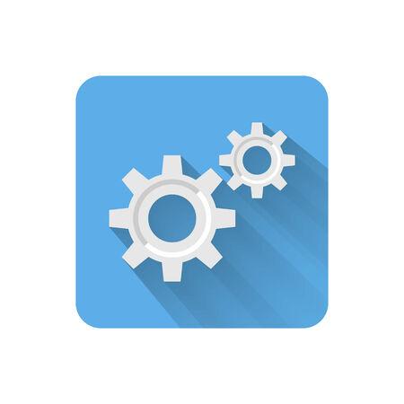 parameter: Flat settings icon. Vector illustration