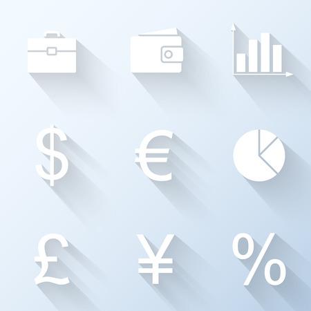 Flat financieren iconen. vector illustratie