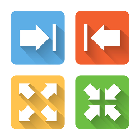 slideshow: Flat image view interface icons. Vector illustration