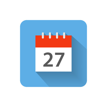 calendar: Flat calendar icon illustration