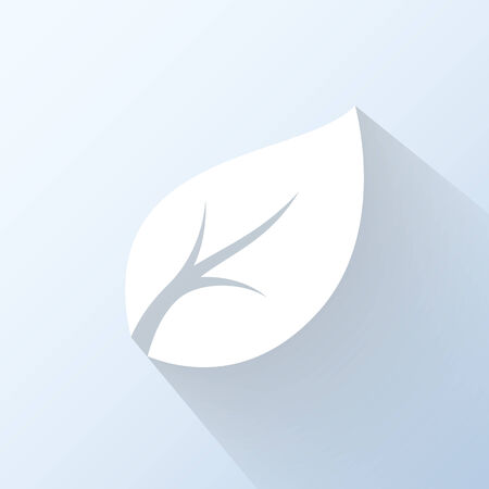 flat leaf: Flat leaf icon illustration