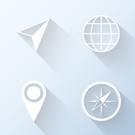 Flat navigation icons illustration Vector
