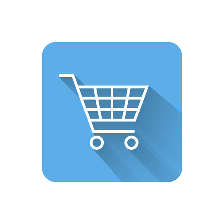 Flat shopping cart icon illustration Vector