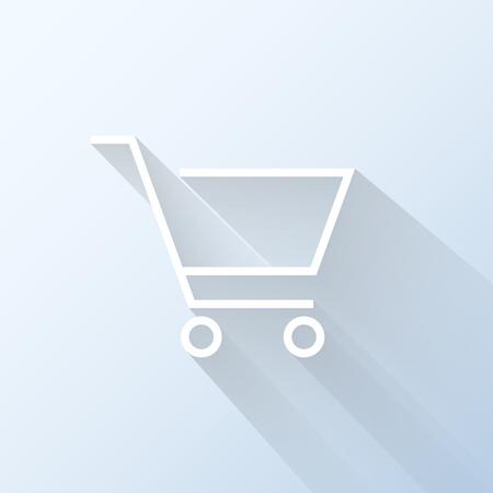 Flat shopping cart icon illustration