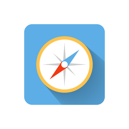 Flat compass icon. Vector illustration Vector