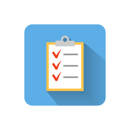 Flat clipboard icon. Vector illustration Vector