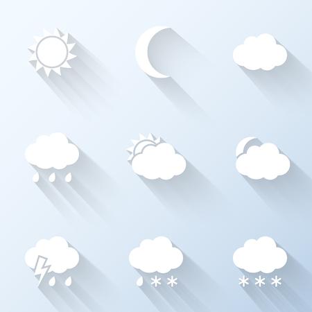 weather  thunder: Flat weather icons. Vector illustration