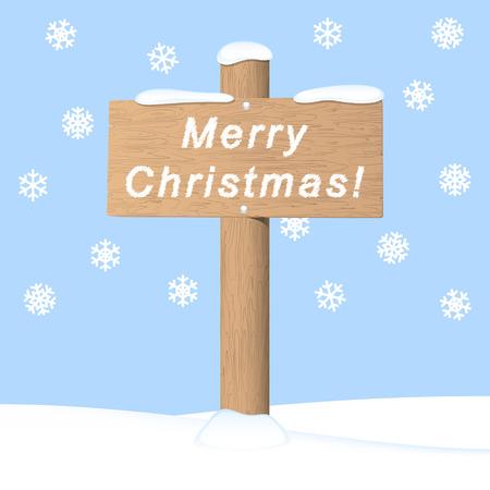 Merry Christmas. Vector invitation card Vector
