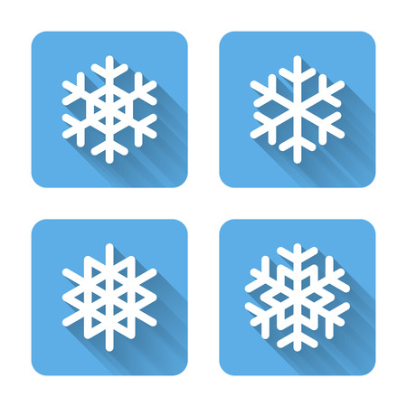 Flat snowflake icons. Vector illustration Vector