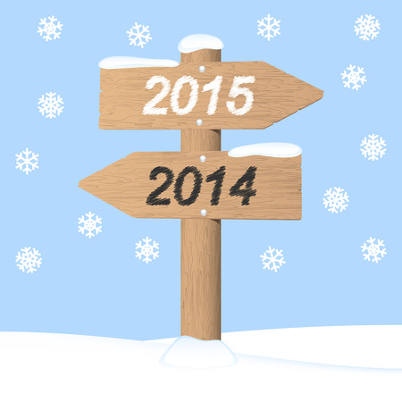 Happy New Year 2015. Vector invitation card Vector