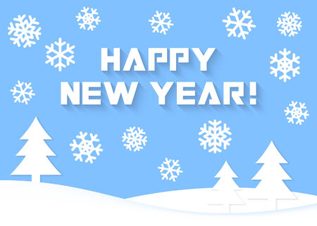 Happy New Year vector greeting card Vector