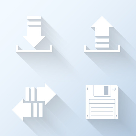 internet traffic: Flat internet traffic icons. Vector illustration