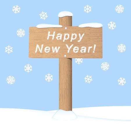 Happy New Year. Vector invitation card Vector