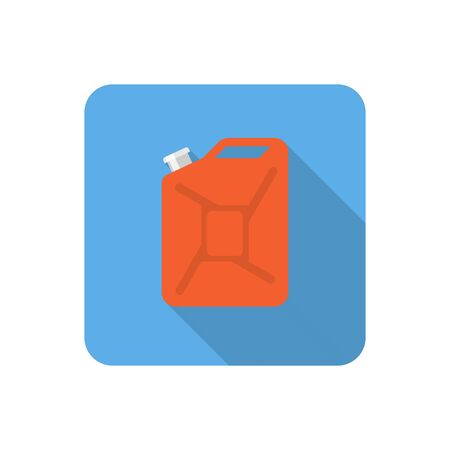 application recycle: Flat jerrycan icon with long shadow. Vector illustration