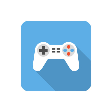 trackpad: Flat gamepad icon with long shadow. Vector illustration Illustration