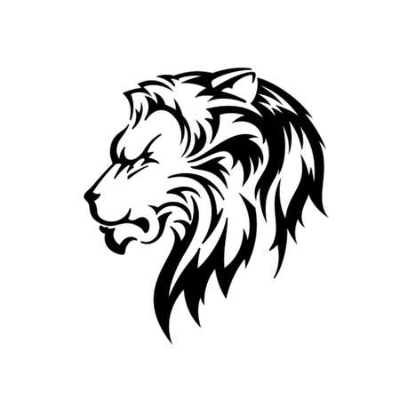 Lion Head. Silhouette Vector Illustration
