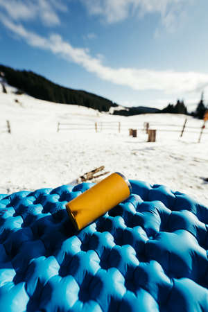 A pile of a snow a mountain