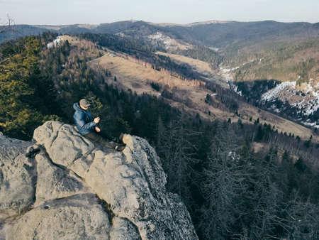 A view of a rocky a mountain