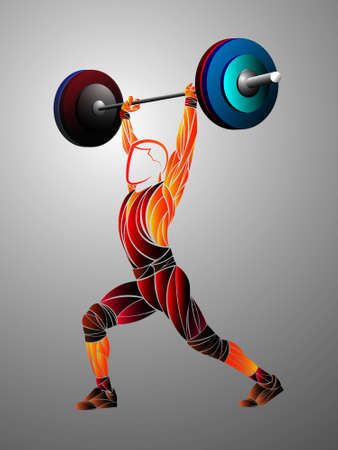 Set of sport weights for bodybuilding, fitness and weightlifting