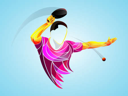 table tennis, ping pong, table tennis, Player, athlete, game, vector Stock Illustratie