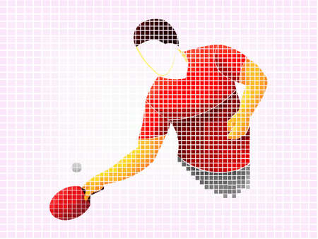 table tennis, ping pong, table tennis, Player, athlete, game, vector Ilustracja