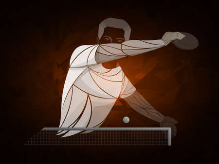 table tennis, ping pong, table tennis, Player, athlete, game, vector Illustration