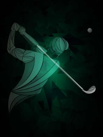 Golfer player on dark Standard-Bild - 133410602