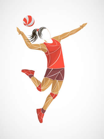 international volleyball, volleyball live, play volleyball, women volleyball, volleyball player Stock Vector - 122698888