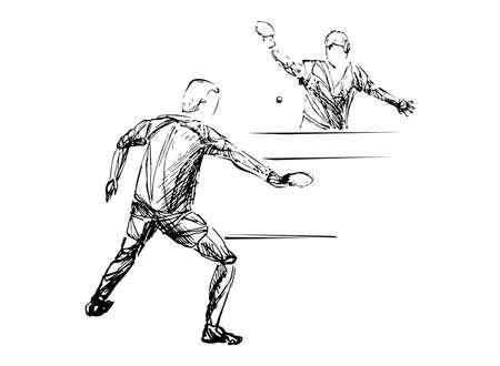 player table tennis illustration