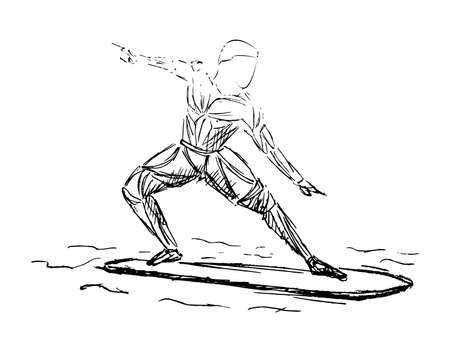 water sports, surfing. Surfer rides on a wave