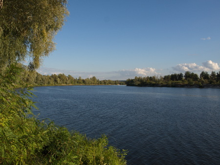 River Desna nearby Kyiv. Summer, just relax.
