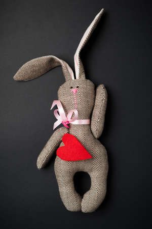 Easter bunny on a black background Stock Photo