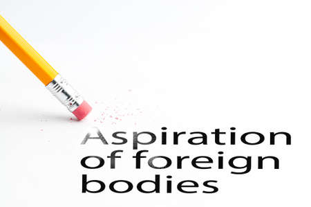 foreign bodies: Pencil with eraser Stock Photo