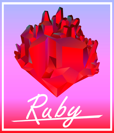 ruby: Ruby red crystal fashion styled poster