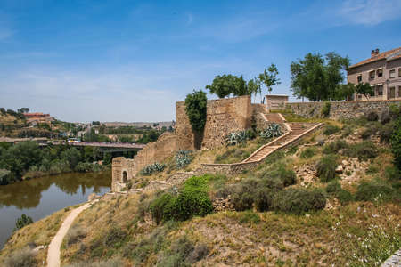 The old part of Toledo city in Central Spain, capital of province of Toledo and the Autonomous community of Castile - La Mancha. May 2006 Stock Photo