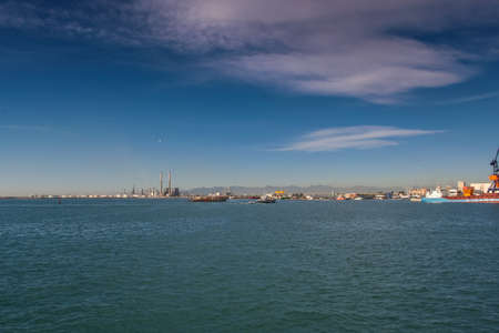 Commercial sea port of Castellon in Valencia (Spain). November 2007 Stock Photo